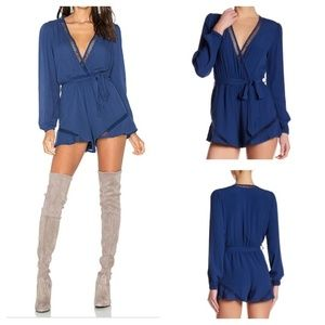 Lovers +Friends Oceanview Longsleeve Romper